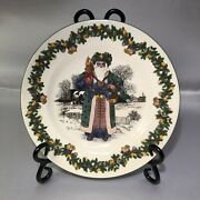 Spode British Santa Annual Collector Plate 1st In Series 1998 Made In England
