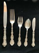 Strasbourg By Gorham Sterling Flatware Set  With Servers Place Size