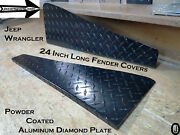 Jeep Wrangler Tj Powder Coated Aluminum Diamond Plate 24 Fender Tops With Bend