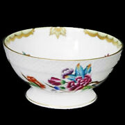 Herend Queen Victoria Footed Rice Bowl New Never Used Made In Hungary
