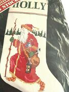 Banar Designs Father Christmas Counted Cross Stitch Stocking Kit Gael Efron Vtg