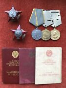 Ussr Ww2 Red Star Order Set For Officer Original Authentic Soviet Russia Awards