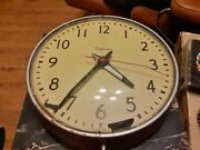 Rare Vintage Simplex Large 13 Commercial School Electric Round Wall Clock Works