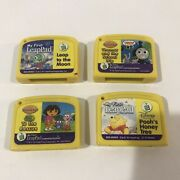 My First Leappad Lot Of 4 Game Cartridges Pooh, Thomas, Dora, Leap To The Moon