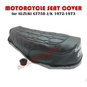 Motorcycle Seat Cover Suzuki Gt750 J K 1972-73 And Seat Strap Gt 750 Kettle
