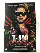 Hot Toys Mms238 1/6 T-800 Terminator Battle-damaged T-800 Mint Rare From Japan