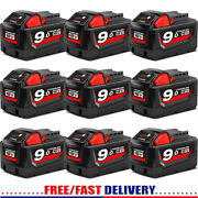 9.0 Ah For Milwaukee M18 Lithium Xc 5.0/6.0 Extended Capacity Battery 48-11-1860