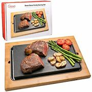 Cooking Stone- Extra Large Lava Hot Stone Tabletop Grill Cooking Platter And ...