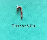 And Co Platinum And Diamond Candy Cane Charm Nib - New