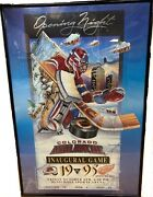 Colorado Avalanche Inaugural Game Framed Poster - Signed By Denis Pereira 9/95