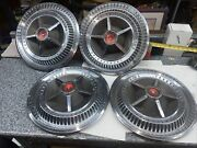 Classic 1966 Ford Thunderbird Hubcaps Wheel Covers Center Caps Set Of 4 Oem