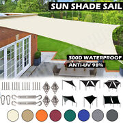 Sun Shade Sail Outdoor Patio Top Canopy Cover 98 Uv Block Awning Triangle Cover