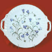Spode Campanula Handled Cake Plate Round 12 New Never Used Made In England
