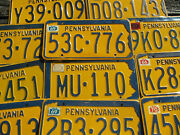 Pennsylvania Shape License Plate Pa 1965 1966 1967 1968 1969 1970- Pick Your Tag