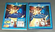 Beauty And The Beast Blu-ray Dvd 3 Disc Set Sealed Brand New Diamond Edition