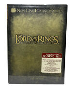 Lord Of The Rings Trilogy Dvd 12-disc Set Extended Edition Sealed New Fellowship