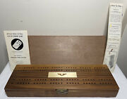 Vintage Domino Cribbage Championship Set Five-up Handcrafted Dominic C. Armanino