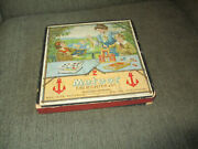 Vintage Antique 1906 Meteor Clay Marble Game In Box Made In Germany By Richter -