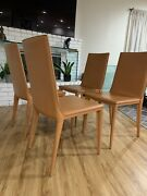 Frag Italy Latina Leather Terracota Dining Chair