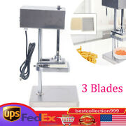 Electric Fry Cutter Potato Cutter French Fries Cutter Slicer Stainless +3 Blades