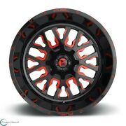 Set Of 4 New Fuel Offroad Stroke D612 22x12 5x139.7/5x150 -44 Gloss Red Wheel