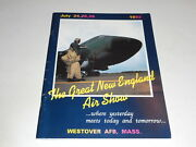 The Great New England Air Show July 24,25,26 1992 Westover Afb, Souvenir Program