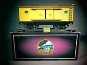 Mth Tinplate Traditions 214 Box Car Item 10-201 Yellow And Brown O.b. C-8.
