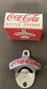 Vintage Coca Cola Wall Mount Bottle Opener Starr X Brown Co With Box