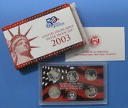 2003 Silver State Quarter 5pc Proof Set With Government Packaging And Coa