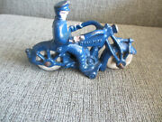 Vintage Antique 1930s Champion Toys Cast Iron Police Motorcycle For Repair 5 L