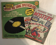 Vintage 1966 Marvel Comics Mighty Thor Golden Record Set With First Issue Reprin