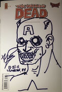 Walking Dead 75 Ultimate Comics Sketch And Signed By Kirkman Both Sides Zombie Cap