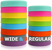 16 Pack Colored Plastic Mason Jar Lids Fits Ball Kerr And More For Canning Jars
