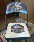 2018 Hall Of Fame Chair Signed By Brian Urlacher Brian Dawkins Ray Lewis