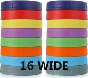 16 Pack Colored For Ball Kerr Plastic Storage Caps Mason Canning Jars Bpa Free