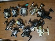 Shimano Sustain Penn 10 And Misc Fishing Reel Gear Lot Sold As Is Untested Seem Ok