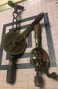 2 Vintage Hand Drills See Photos And Description