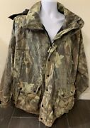 Vintage American Outfitters Camouflaged Jacket Heavy Hooded Zip Front Men Xl