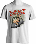 Lady Luck Retro T-shirts Ww 2 Bomber Nose Art Pinup Girl Small To 6xl And Tall