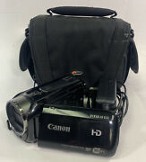 Canon Vixia Hf R50 Camcorder With 8gb Internal Storage W/ Case Needs New Battery