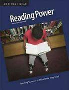 Reading Power Teaching Students To Think While They Read By Gear Adrienne Andhellip