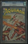 Aquaman 1 Cgc 7.5 1-2/62 1st Appearance Of Quisp Jack Miller Story