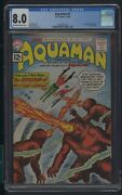 Aquaman 1 Cgc 8.0 1-2/62 1st Appearance Of Quisp Jack Miller Story