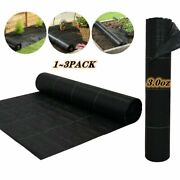1-3pcs Hgmart 3.0oz High-quality Weed Barrier Fabric Landscape Fabric Heavy Duty