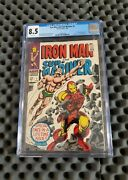 Iron Man And Sub-mariner 1 Cgc 8.5 White Pages 1968 Marvel Silver Age Key🔥mcu🔥