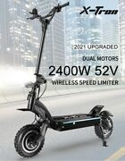 Electric Scooter Adult Dual Motor 10inch Off Road Tires Fast 70 Km/h 60v 2400w