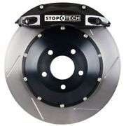 Stoptech 83-333460051 Front Big Brake Kit 332mm X 32mm 2 Piece Slotted Rotors Bl