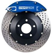 Stoptech 83-624670022 Front Big Brake Kit 355mm X 32mm 2 Piece Drilled Rotors Bl