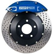 Stoptech 83-896670022 Front Big Brake Kit 355mm X 32mm 2 Piece Drilled Rotors Bl