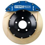 Stoptech 83-1434c0023 Front Big Brake Kit 355mm X 35mm 2 Piece Slotted Yellow Zi